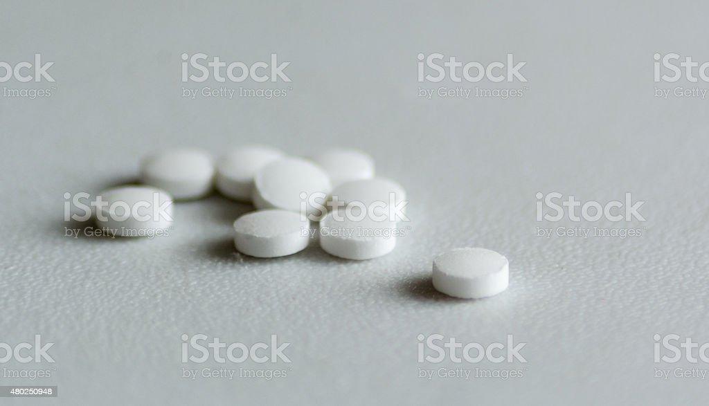 Sweetener pills stock photo