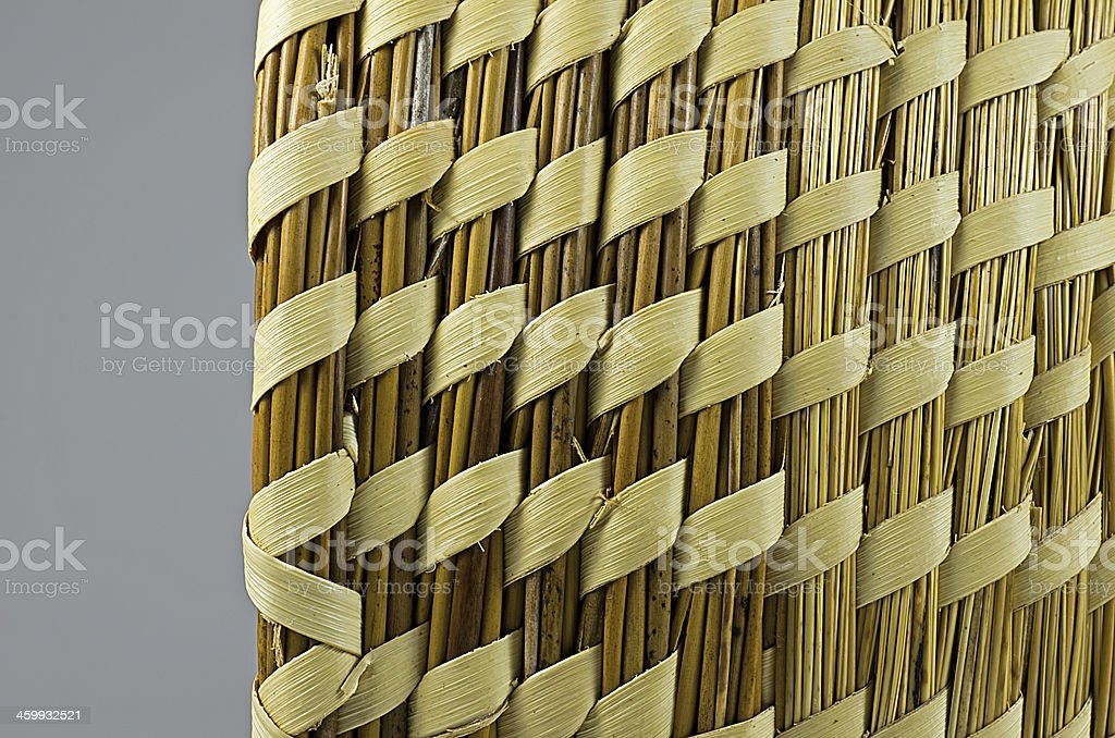 Sweetgrass and Pine Basket stock photo