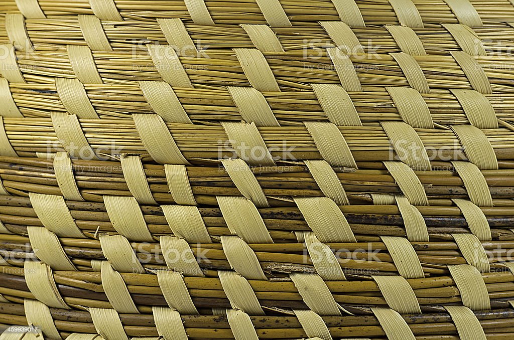 Sweetgrass Basket Background stock photo