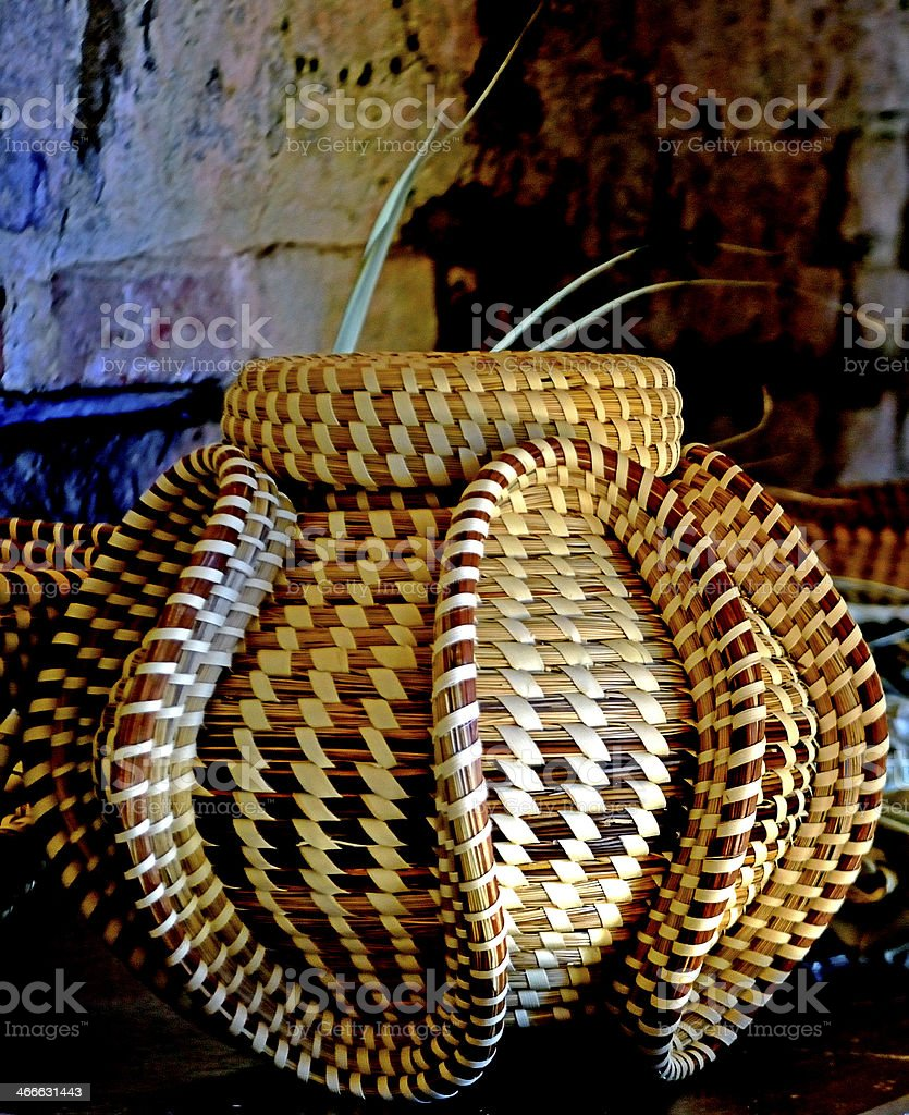 Sweetgrass Basket stock photo