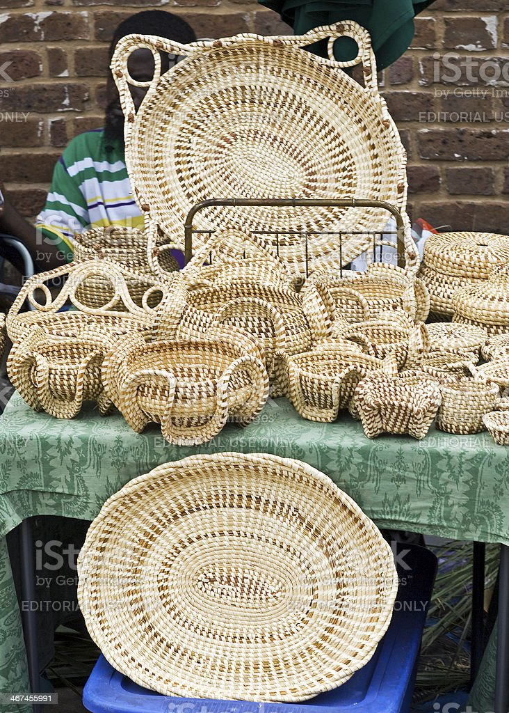 Sweetgrass Baskets for Sale stock photo