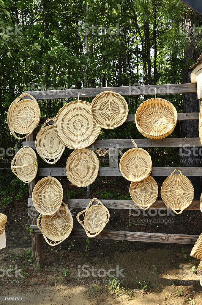 Sweetgrass Baskets stock photo