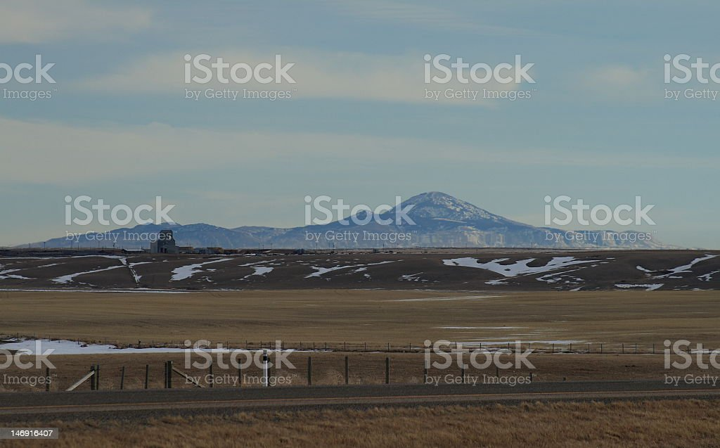Sweetgrass Hills Mirage stock photo