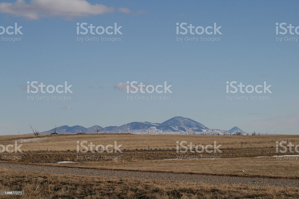 Sweetgrass Hills stock photo