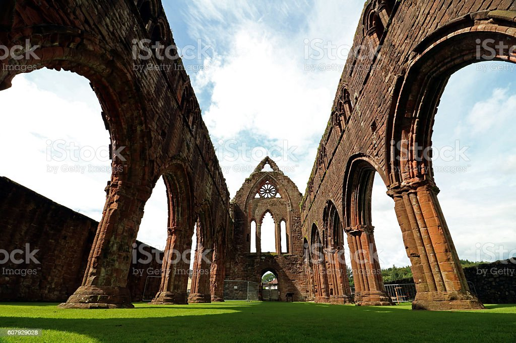 Sweetheart Abbey Dumfries and Galloway stock photo