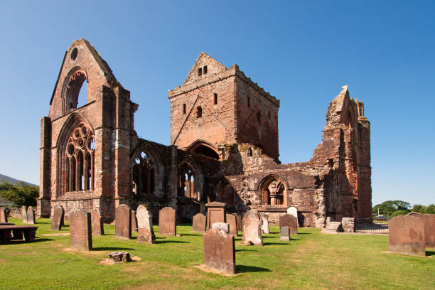 Sweetheart Abbey, Dumfries and Galloway, Scotland stock photo