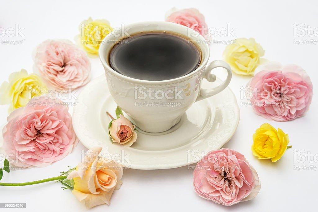Sweetheart breakfast. royalty-free stock photo