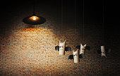 istock Sweetie bats of Halloween on brick wall. 1175608198