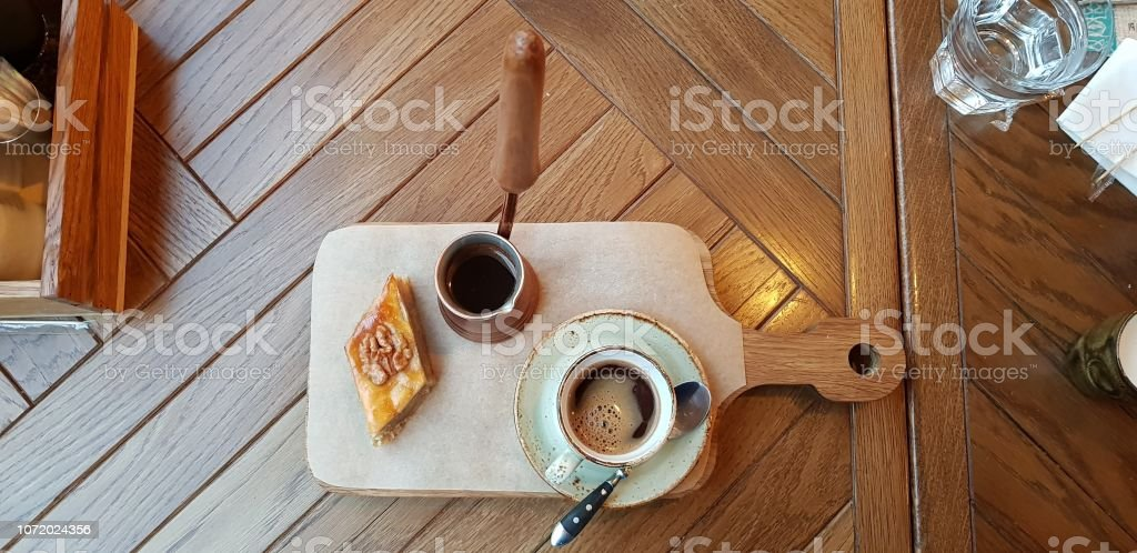 Sweets and coffee stock photo