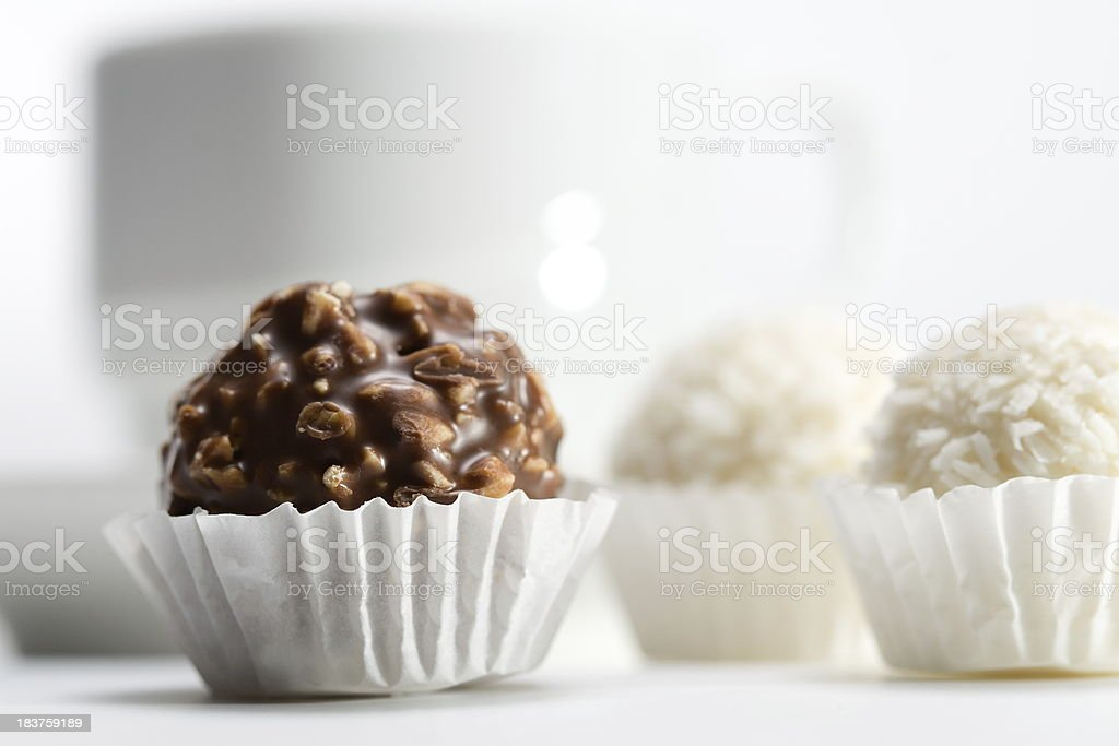 Sweets and cup royalty-free stock photo