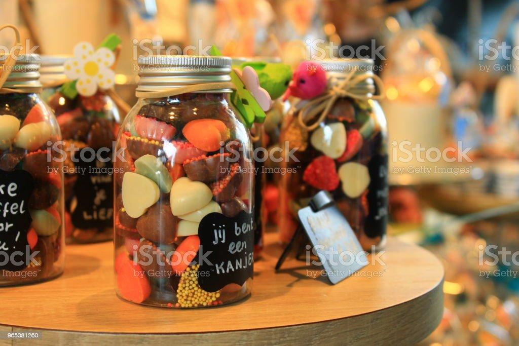 Sweets in a jar zbiór zdjęć royalty-free