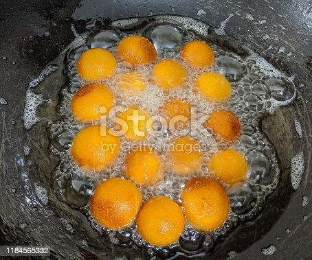 istock Sweets - making of Gulab jamun - famous indian asian sweet 1184565332