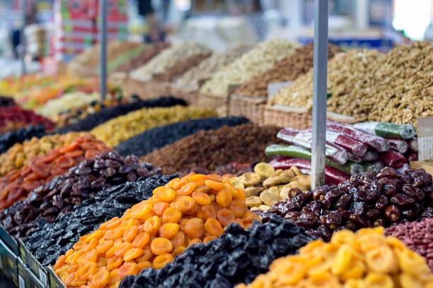 sweets on the counter in the market sweets on the counter in the market outdoor yerevan stock pictures, royalty-free photos & images