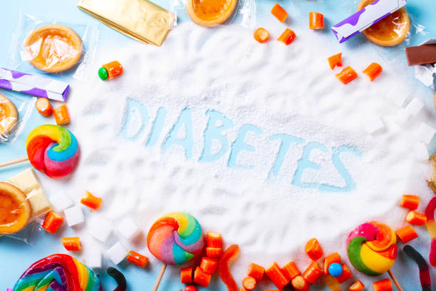sweets with sugar - metabolic syndrome stock photos and pictures