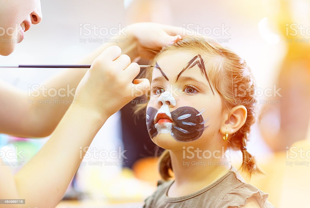 sweety face paint stock photo