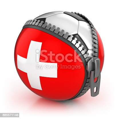 istock Swicerland football nation 3d isolated illustration 885571146