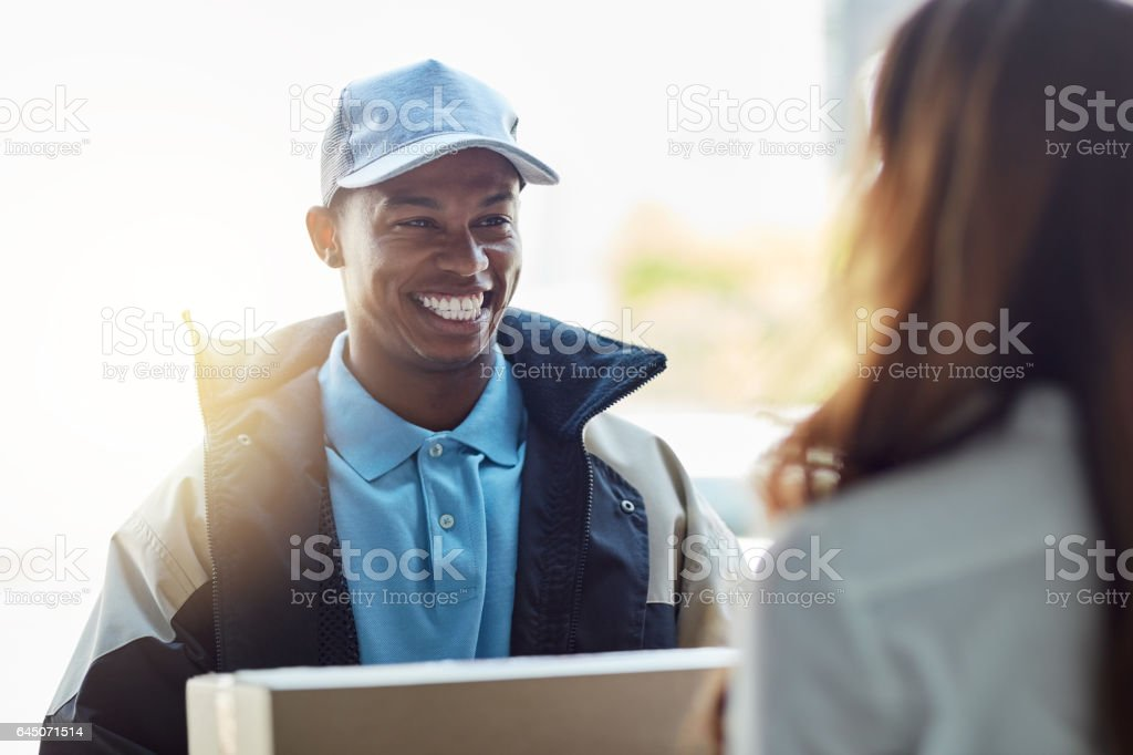 Swift deliveries are what we specialise in stock photo