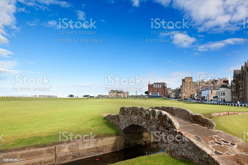 Swilken Bridge stock photo