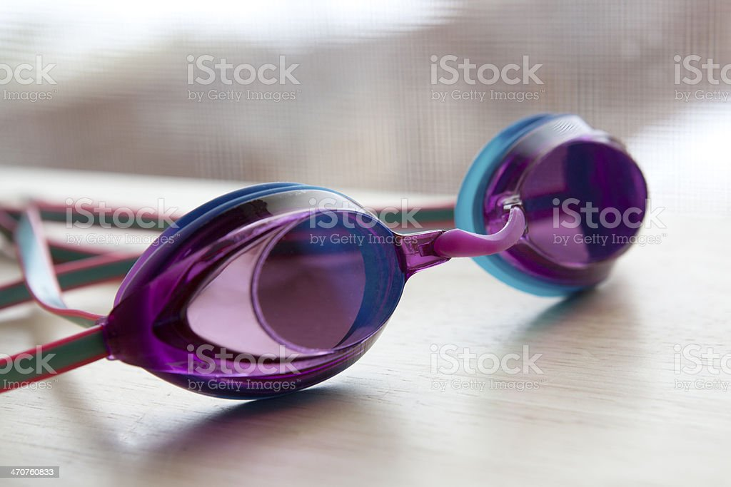 Swim goggles stock photo