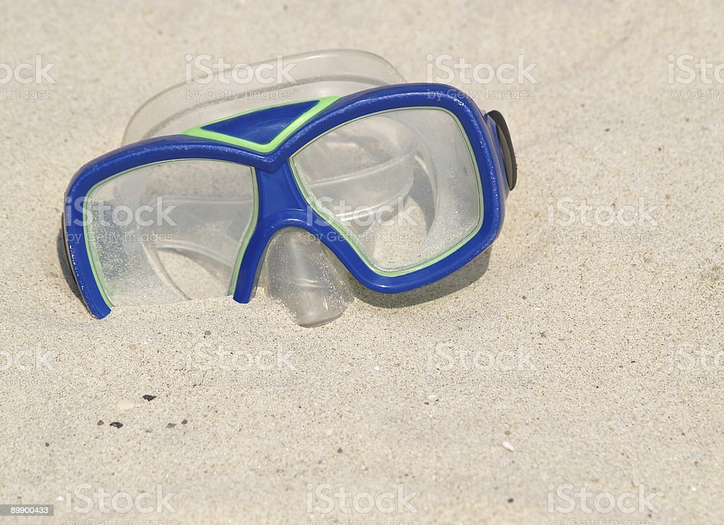 swim mask at beach royalty-free stock photo