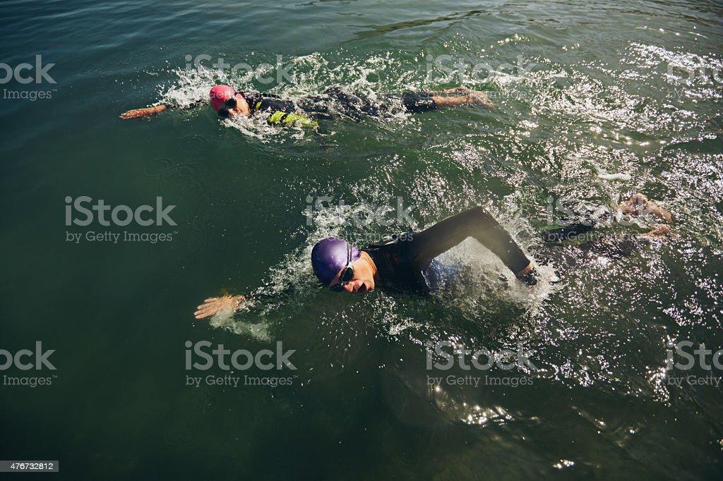 Swim Teil des triathlon Wettbewerb – Foto