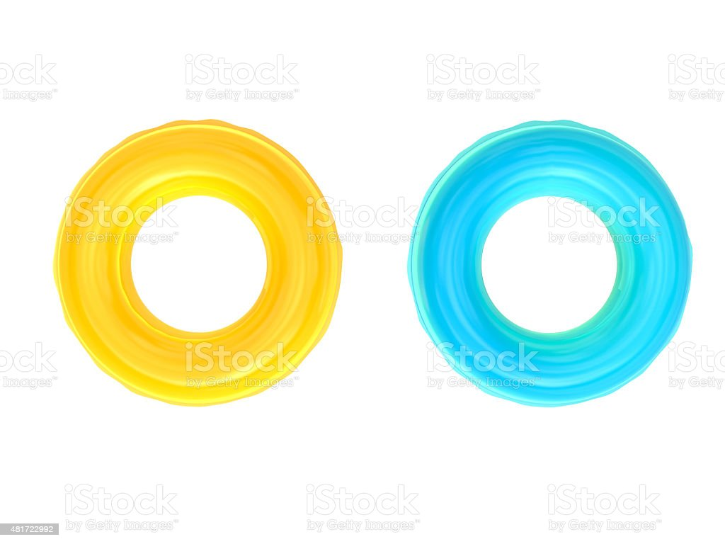 swim rings stock photo