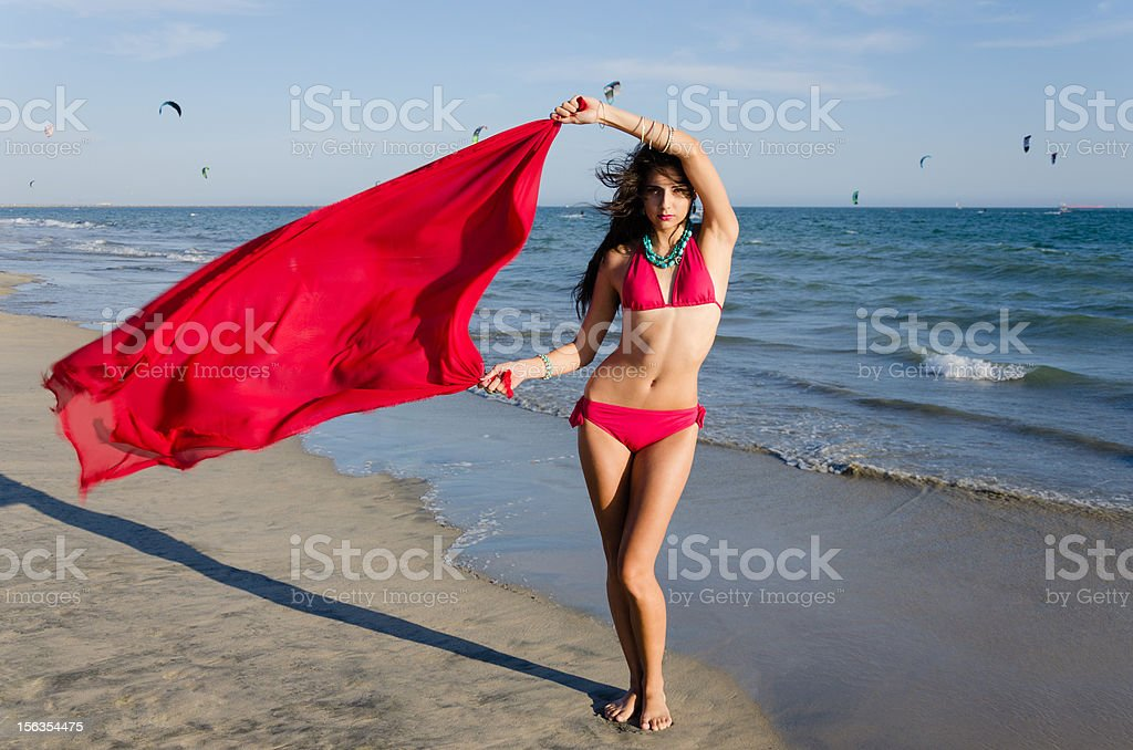 Swim Suit Photoshoot in Long Beach, CA 8.12.12 royalty-free stock photo