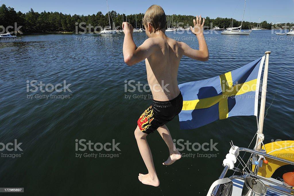 Swim time royalty-free stock photo