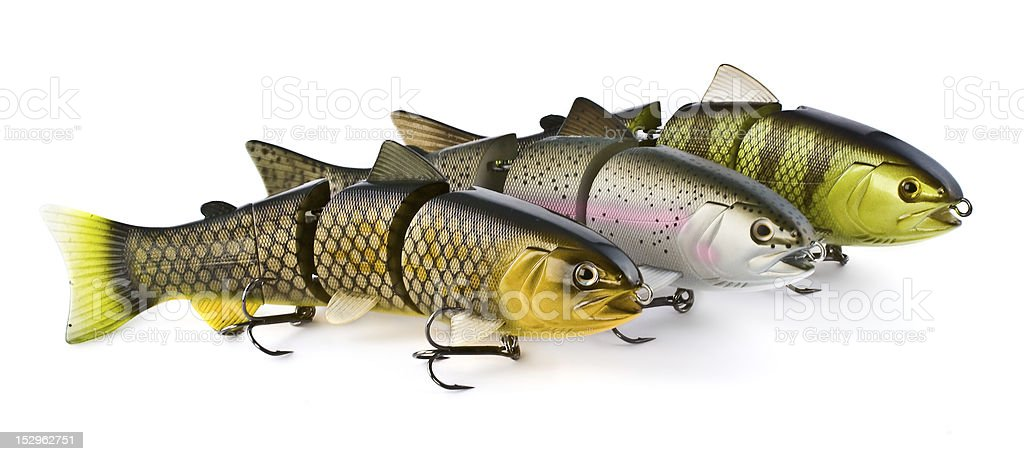 Swimbait Bass Fishing Lures stock photo