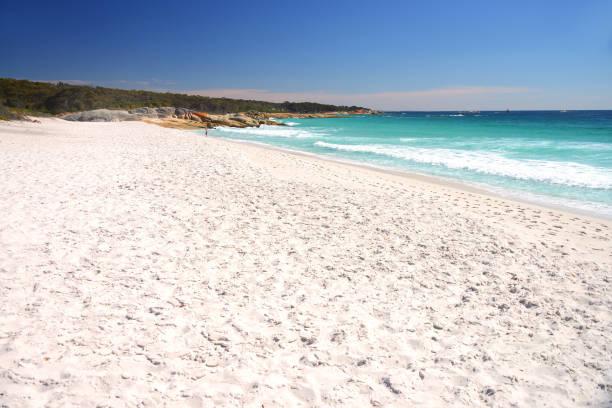 Swimcart Beach, Bay of Fires, Tasmania, Australia stock photo