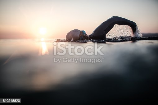 istock Swimmer in action 610548820