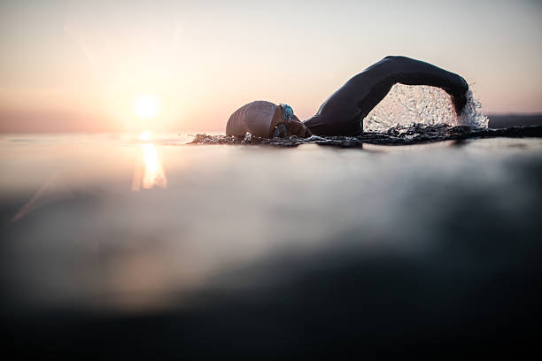 swimmer in action - endurance stock pictures, royalty-free photos & images