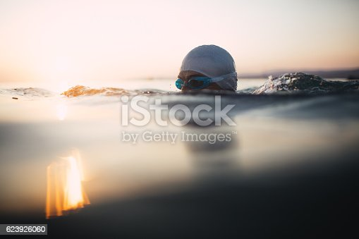 610548820 istock photo Swimmer in action 623926060