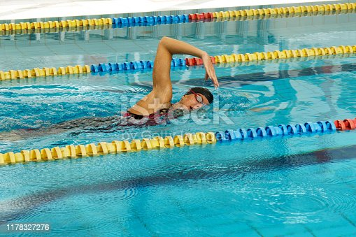 177281231 istock photo Swimmer in the pool 1178327276