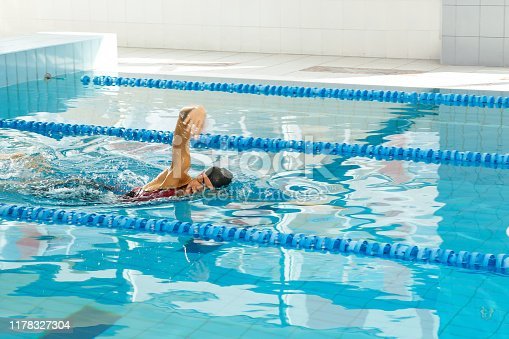 177281231 istock photo Swimmer in the pool 1178327304