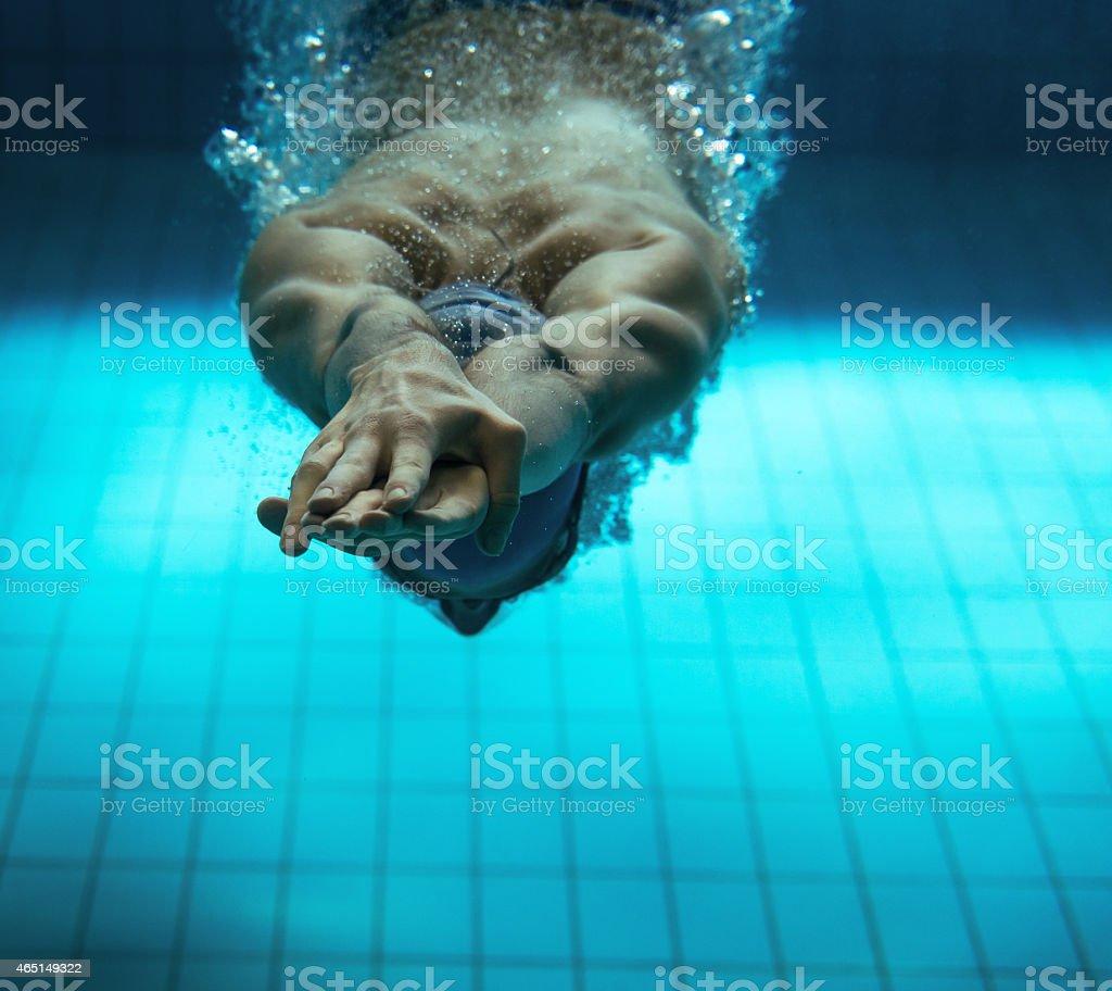 Swimmer stock photo