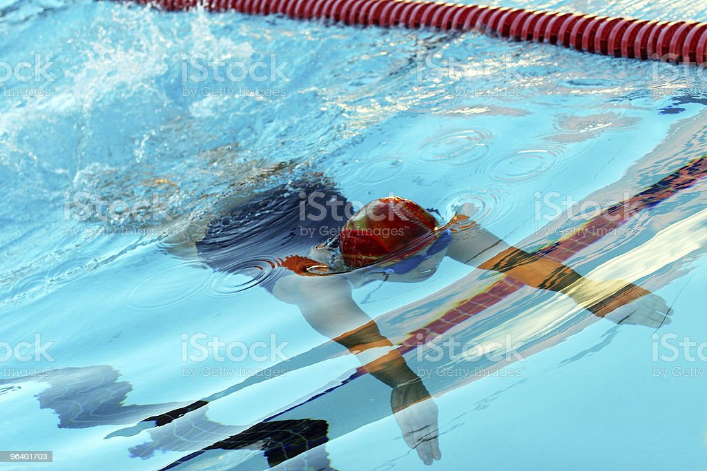 Swimmer - Royalty-free Abstract Stock Photo