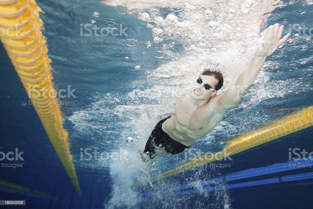 swimmer swimming front crawl royalty-free stock photo