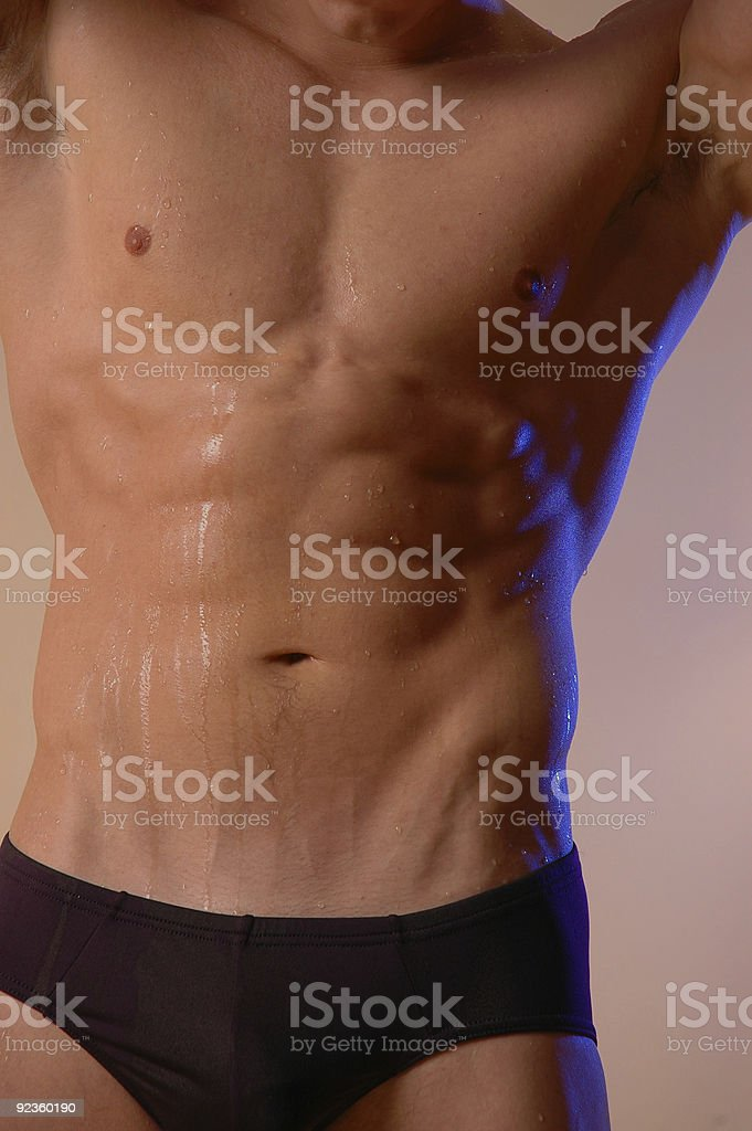 swimmer torso stock photo
