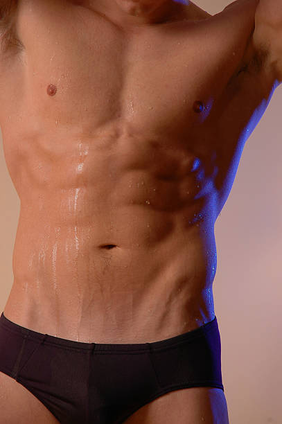 swimmer torso stock photo