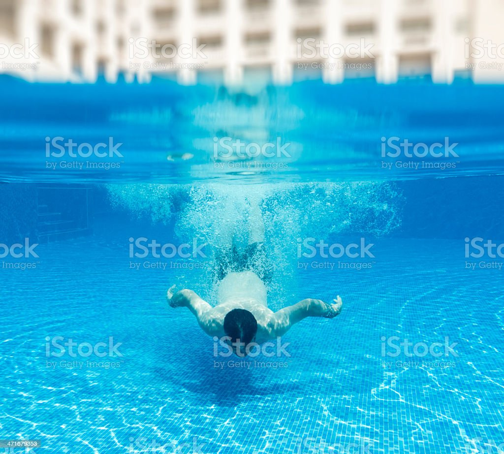 swimmer underwater royalty-free stock photo