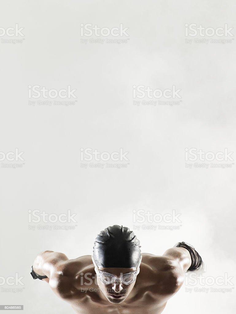 A swimmer waiting 免版稅 stock photo