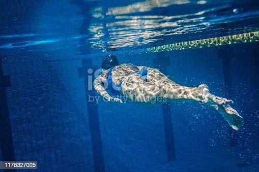 177281231istockphoto Swimmer woman underwater 1178327025