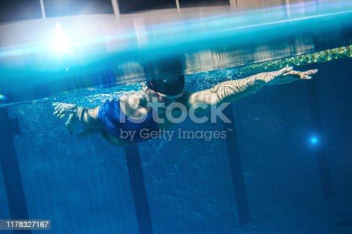 177281231istockphoto Swimmer woman underwater 1178327167