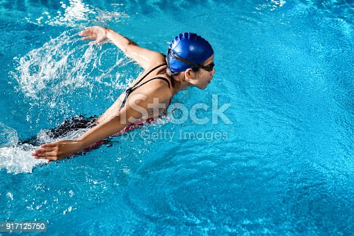 istock Swimmers are swimming