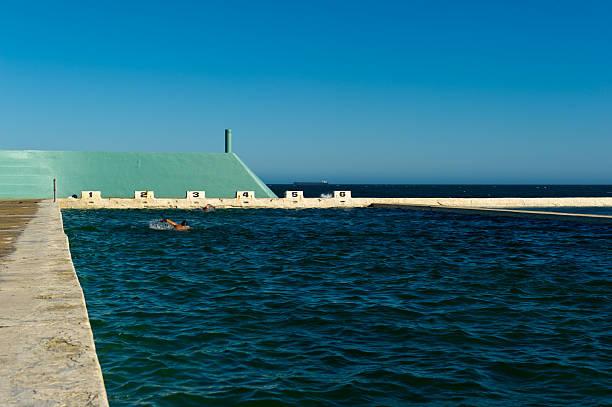 Schwimmer in Newcastle Ozean-Badezimmer – Foto
