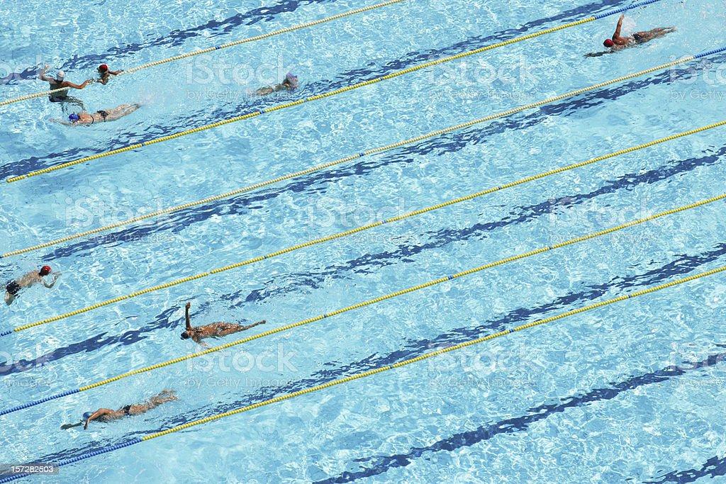 Schwimmer aus der Luft – Foto