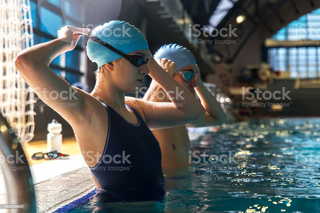 Swimmers stock photo