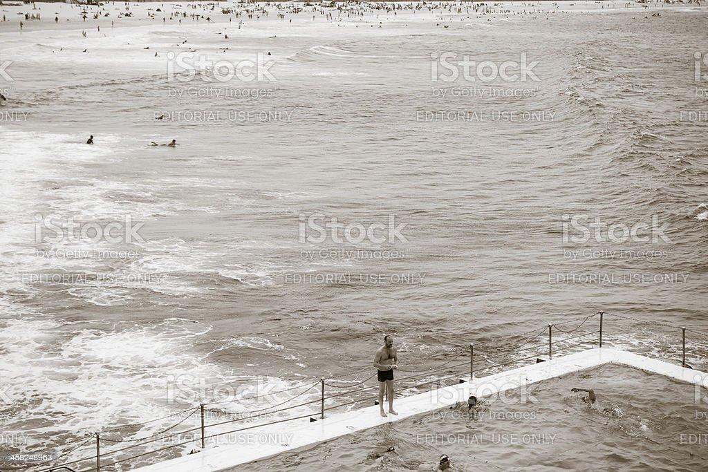 Swimming at Bondi royalty-free stock photo