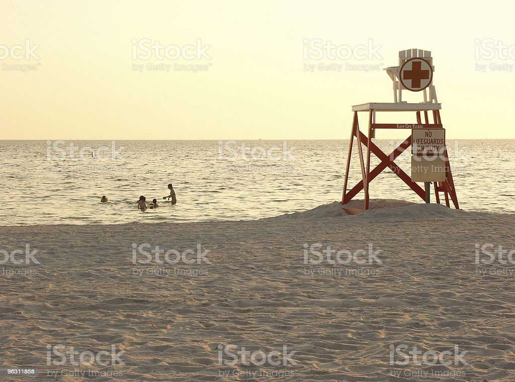 Swimming at Dusk stock photo